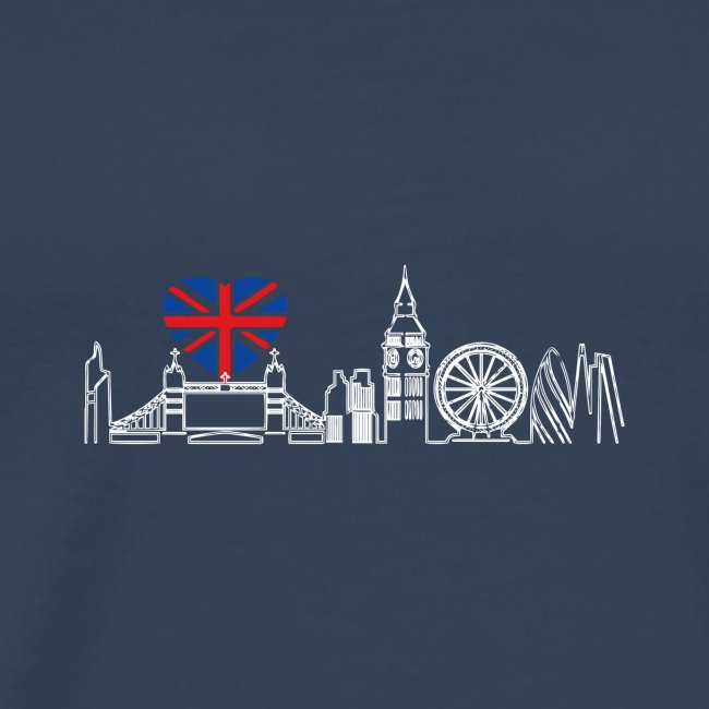 Cooles London Souvenir - Skyline mit Herz London