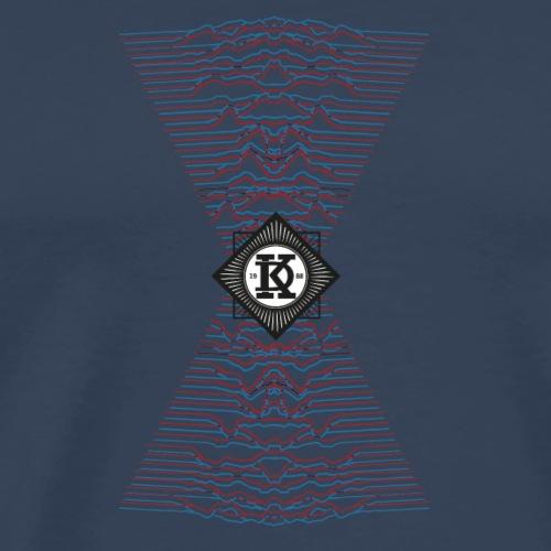 Geometria montagne onde - Maglietta Premium da uomo