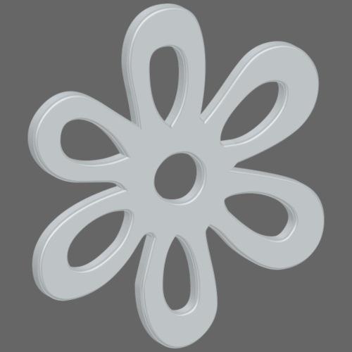 3D Metallteil Blume extrudiert