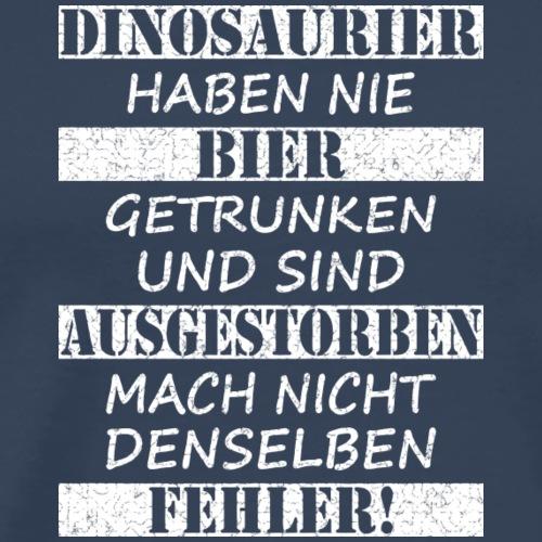 Dinosaurier & Bier (weiß strukturiert) - Männer Premium T-Shirt