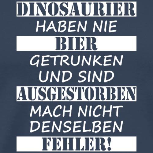 Dinosaurier & Bier (weiß) - Männer Premium T-Shirt