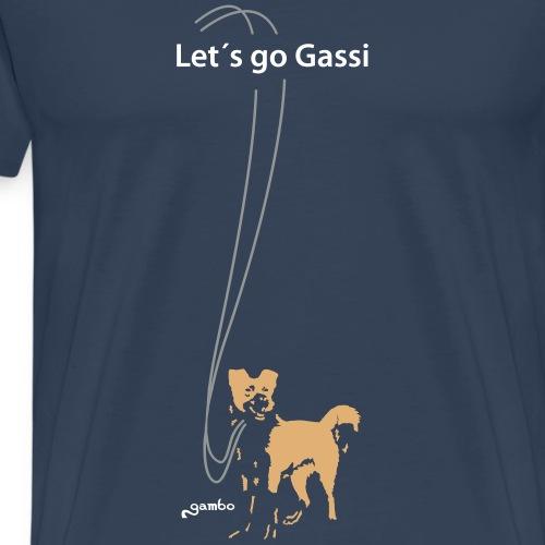 Let´s go Gassi - Männer Premium T-Shirt