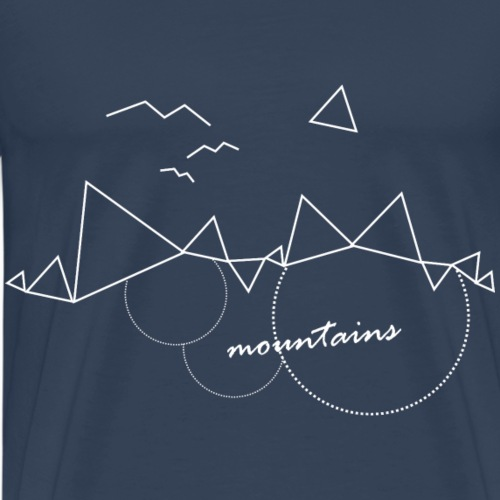 MOUNTAINS - GEOMETRY - WEISS - Maglietta Premium da uomo