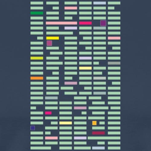 kolorowe prostokąty - Koszulka męska Premium