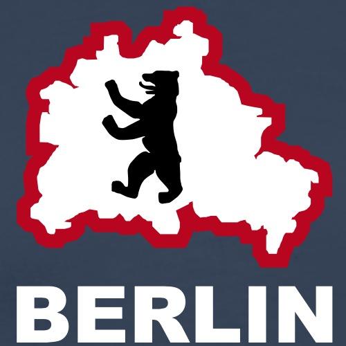 3 col - Berliner Bär Hauptstadt Bundestag - Männer Premium T-Shirt