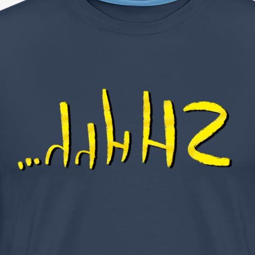Shhh By TheRawburt - Premium-T-shirt herr