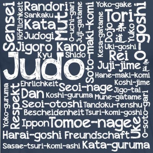 Judo Wortcollage white - Männer Premium T-Shirt