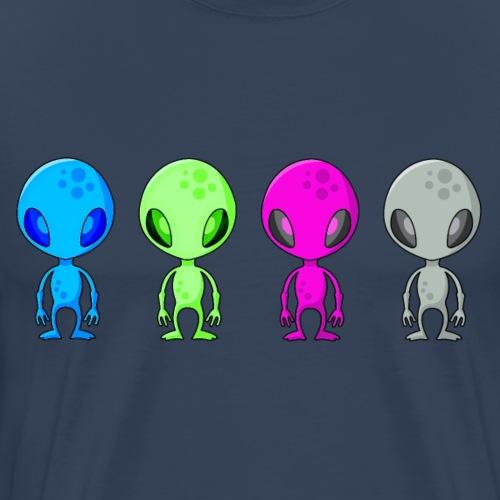 Multicolored Aliens - Men's Premium T-Shirt