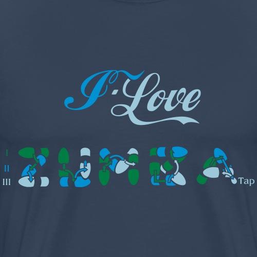 I love Zum Ba Schrittfolge Design - Männer Premium T-Shirt