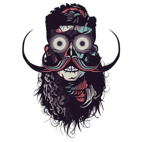 hipster tete de mort crane barbu skull moustache b - T-shirt Premium Homme