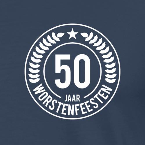 50 Jaar WF - Witte bedrukking - Mannen Premium T-shirt