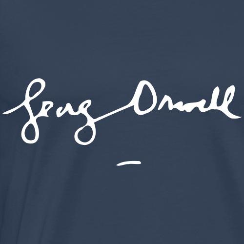George Orwell Unterschrift - Männer Premium T-Shirt