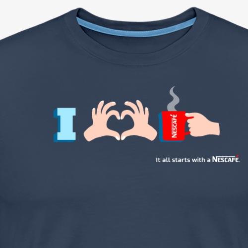 I LOVE NESCAFÉ - T-shirt Premium Homme
