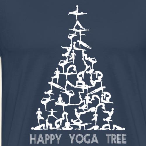 Happy Yoga Christmas Tree - Männer Premium T-Shirt
