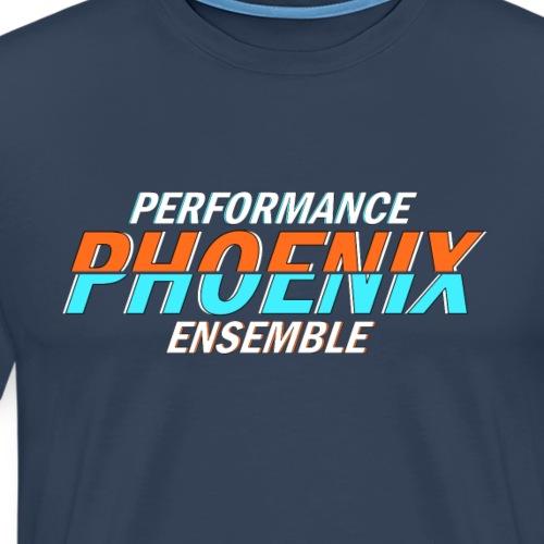 Phoenix Distorted Cyan - Männer Premium T-Shirt