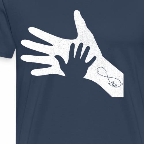Handabdruck Eltern Kind Infinty Tatoo Life - Männer Premium T-Shirt