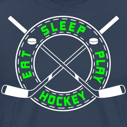 Eat, Sleep, Play Hockey - Men's Premium T-Shirt