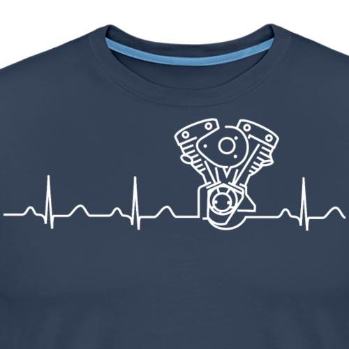 Late Shovel Heartbeat weiß - Männer Premium T-Shirt