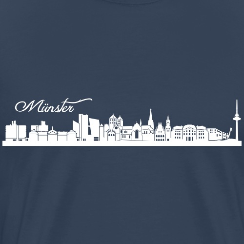 Münsteraner Skyline - Männer Premium T-Shirt