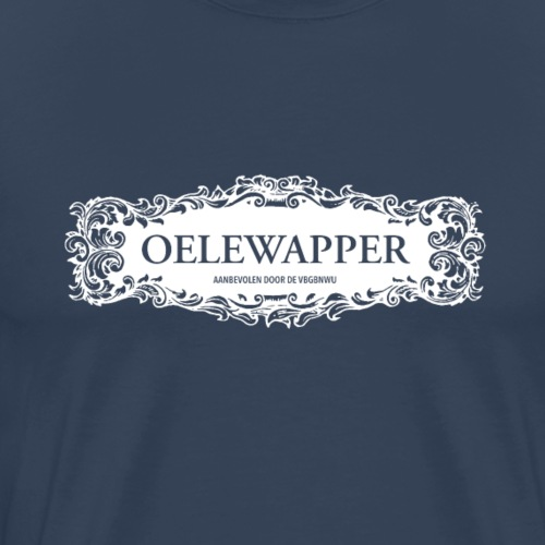 Oelewapper deco WIT 25 - Mannen Premium T-shirt