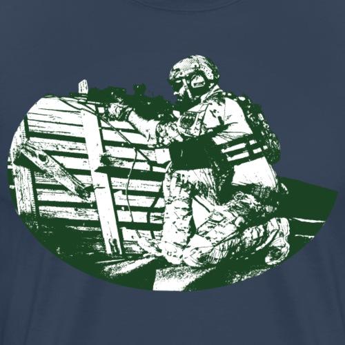 Soldier (green) Long Sleeve Baseball T-Shirt - Men's Premium T-Shirt