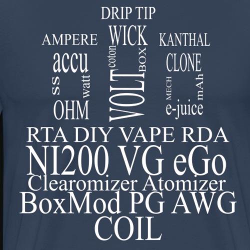 RDA vape words - T-shirt Premium Homme