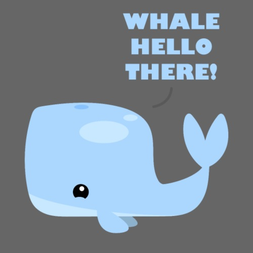 Whale Hello There - Herre premium T-shirt