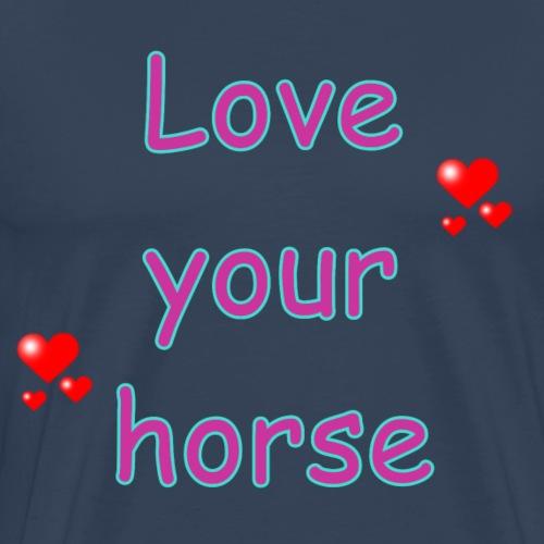 LoveYourHorse - Männer Premium T-Shirt
