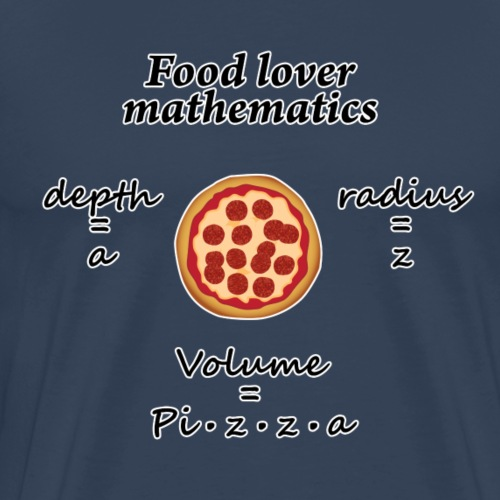 Food lover mathematics - Premium T-skjorte for menn
