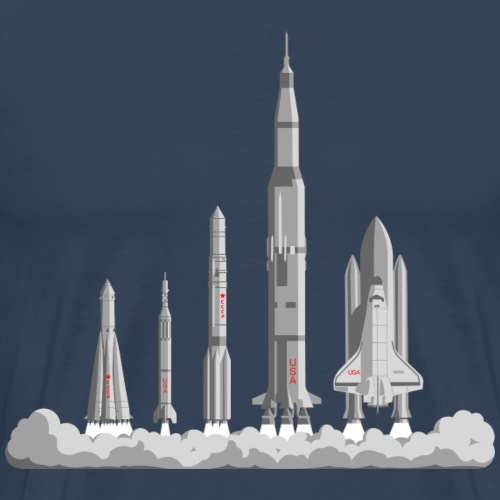 The Space Race - Men's Premium T-Shirt