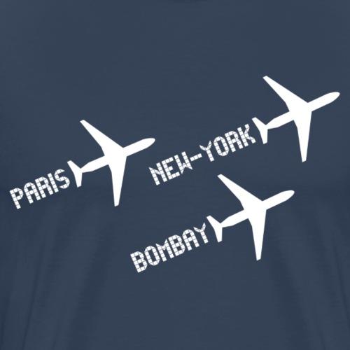 3 voyages avion white - T-shirt Premium Homme