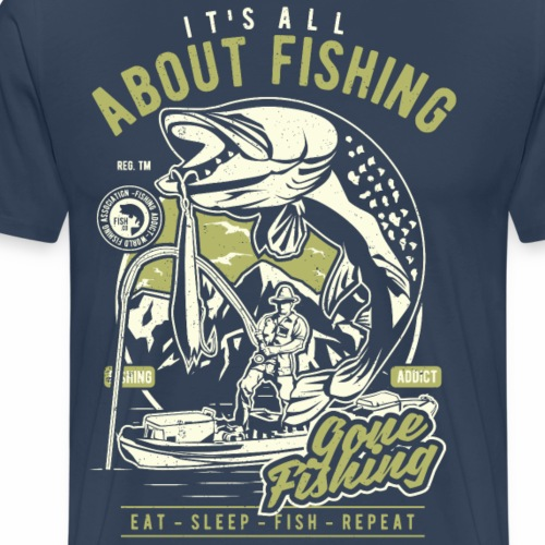 All About Fishing - Männer Premium T-Shirt