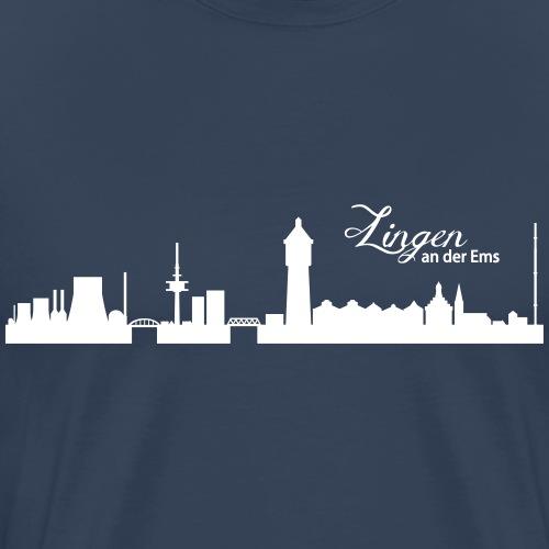 Lingener Skyline - Männer Premium T-Shirt