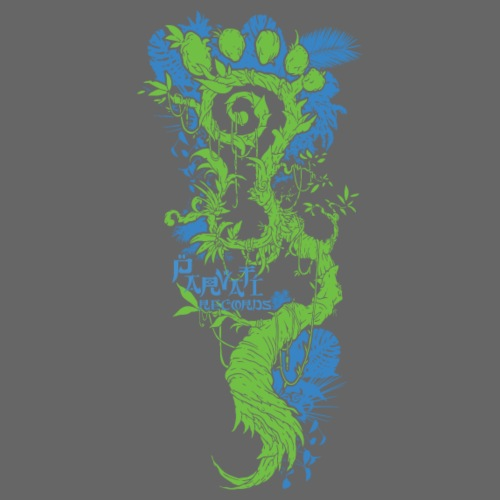 Parvati FootMoss logo in blue & green - Men's Premium T-Shirt