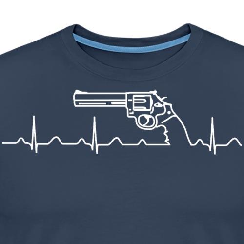 Smith Wesson Revolver Heartbeat weiß - Männer Premium T-Shirt