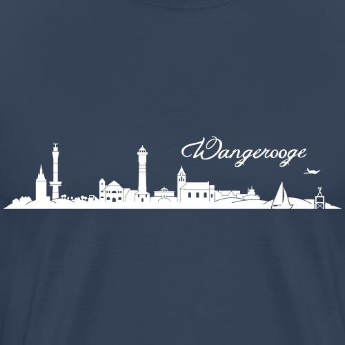 Wangerooger Skyline - Männer Premium T-Shirt