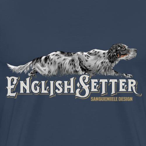 english setter crawling - Maglietta Premium da uomo