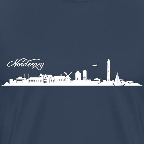 Norderneyer Skyline - Männer Premium T-Shirt