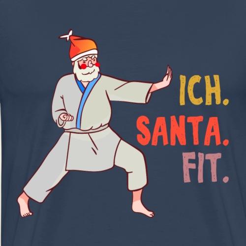 Christmas ich Santa Claus fit Weihnachten - Männer Premium T-Shirt