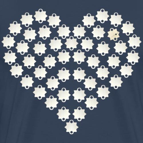 Schießbuden Herz weiß - Männer Premium T-Shirt