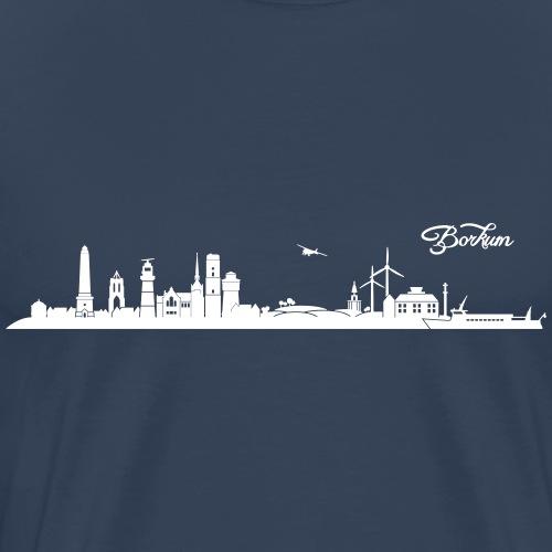 Borkumer Skyline - Männer Premium T-Shirt