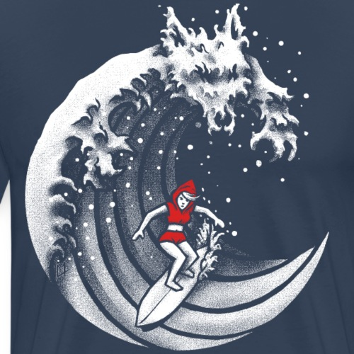 Little Red Surfing Hood - Men's Premium T-Shirt