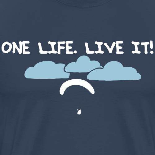 Paragliding Gleitschirmflieger T-Shirt Geschenk - Männer Premium T-Shirt