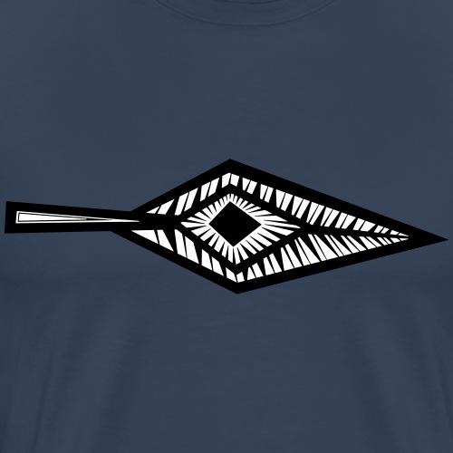 Angular Leaf Eye - Männer Premium T-Shirt
