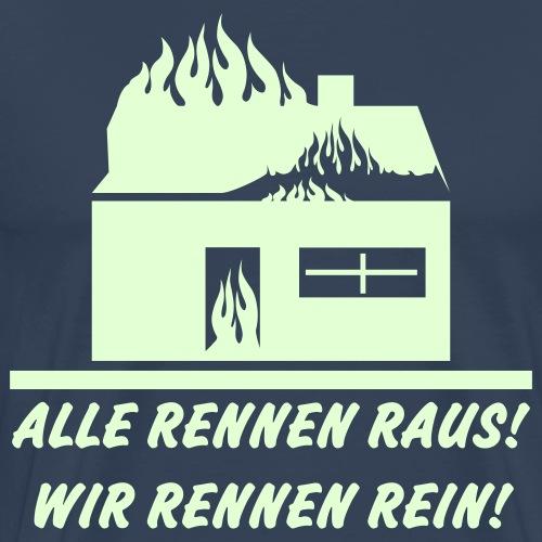 Alle rennen raus! - Männer Premium T-Shirt
