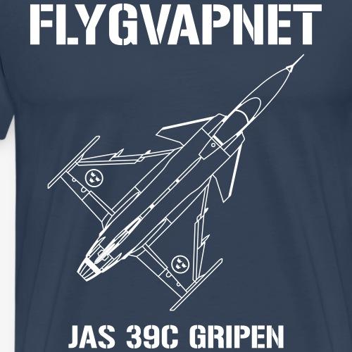 FLYGVAPNET - JAS 39C - Premium-T-shirt herr