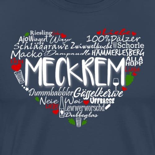 Meckrem Herz für dunkle Shirts - Männer Premium T-Shirt