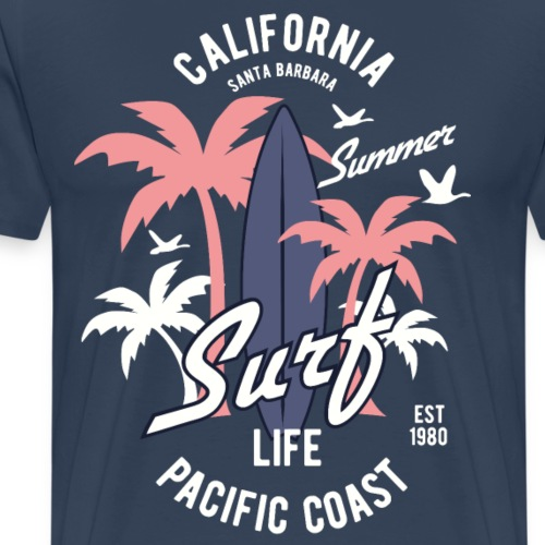 California Surf - Männer Premium T-Shirt