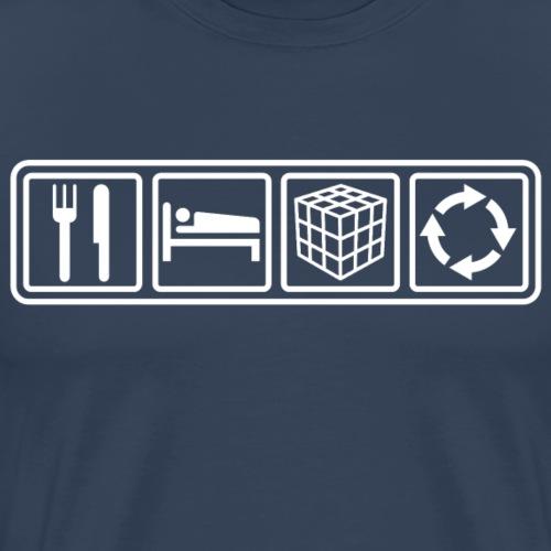 ESCR (White) - Men's Premium T-Shirt