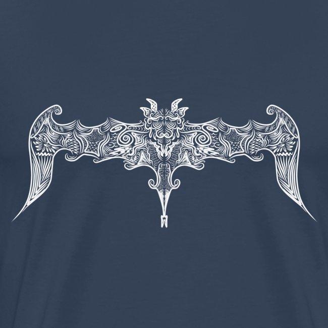 Pipistrello gotico stilizzato